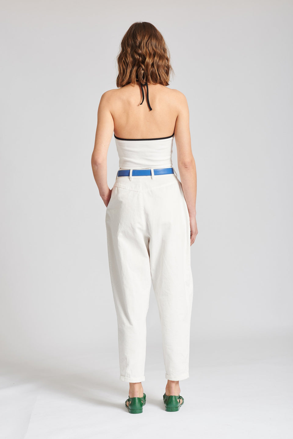 Lodge High Waisted Pleated Pant (CLDL-052 )