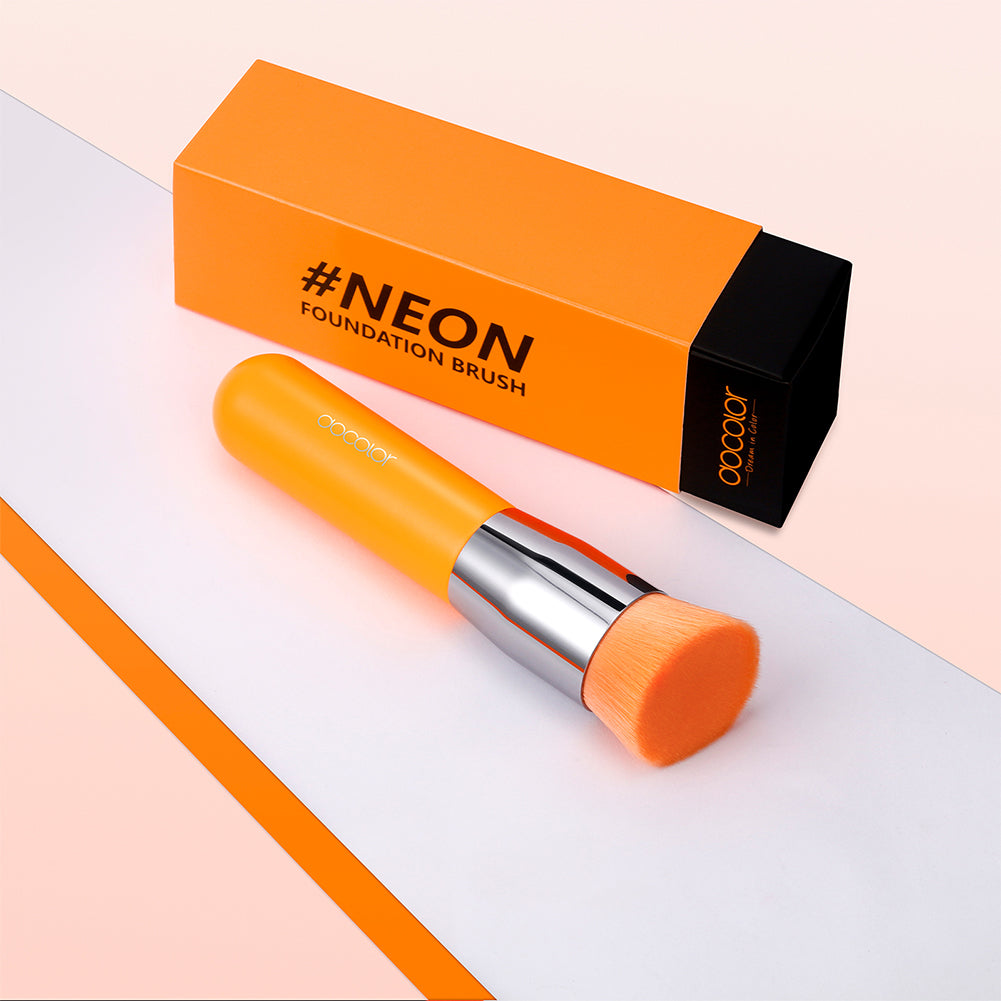 Neon Orange- 1 Piece Syenthetic Brush