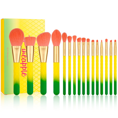 Pineapple - 16 piece Makeup Brush Set