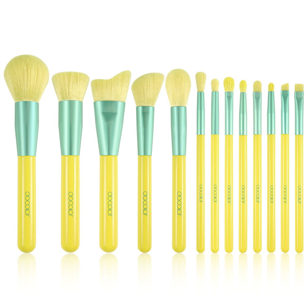 Lemon-13-Piece Makeup Brush Set