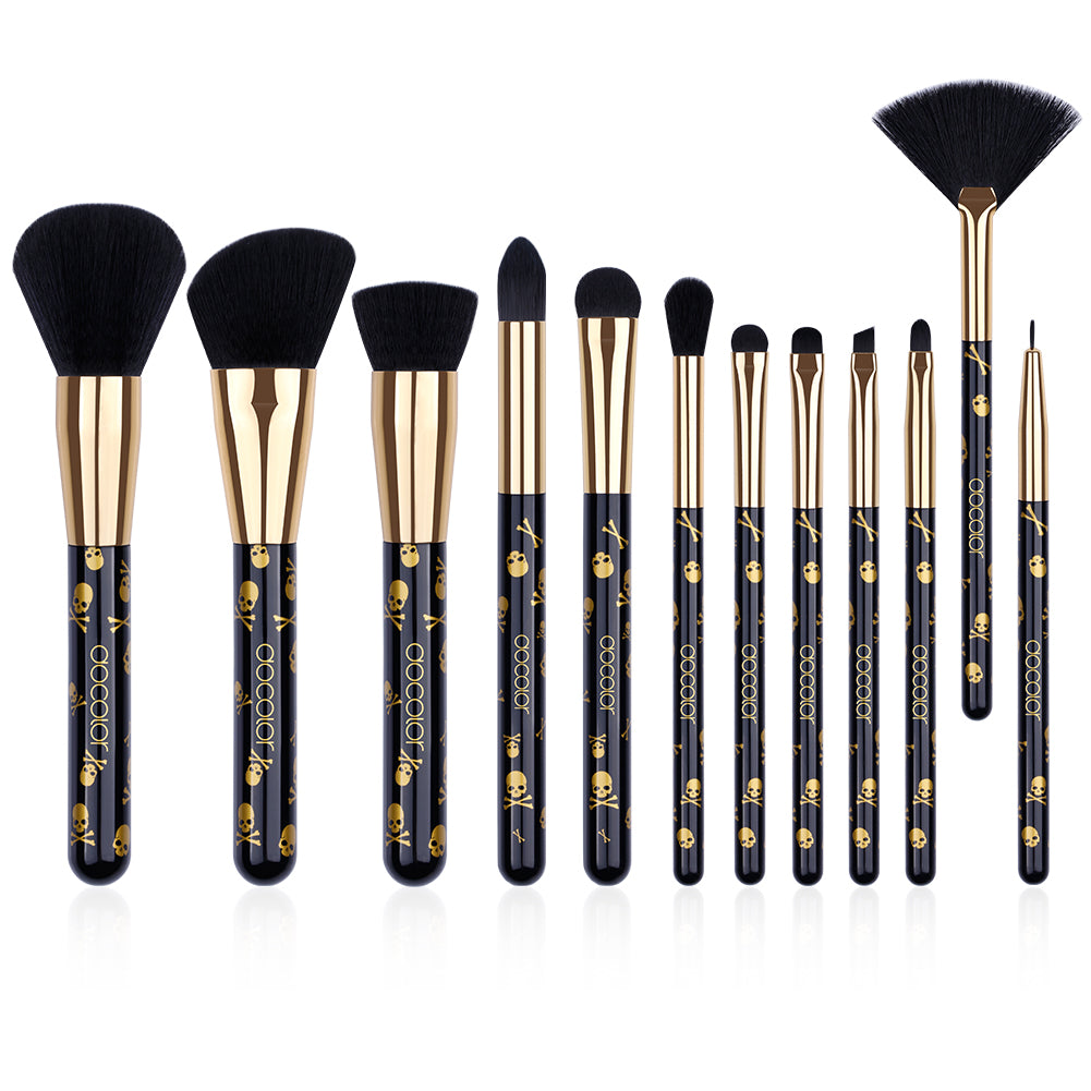 Goth - 12 Piece Makeup Brush Set