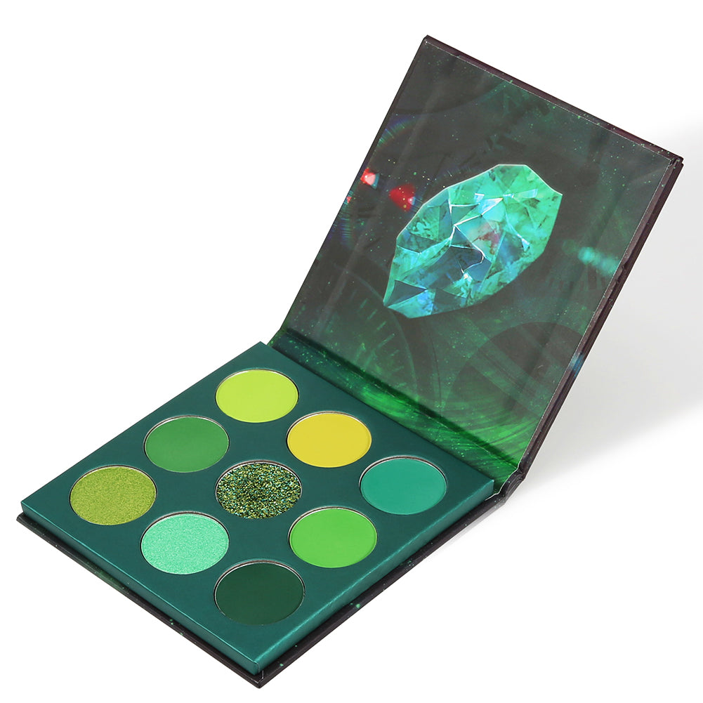 Time - 9 Colors Shadow Palette (Green)
