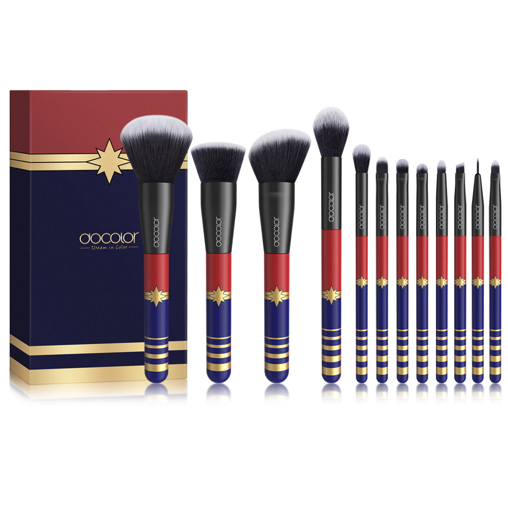 Starlight Goddess - 12 piece Synthetic Makeup Brush Set