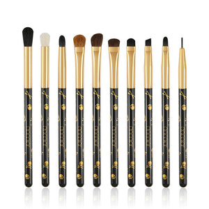 Goth - 10 Pieces Eye Makeup Brush Set