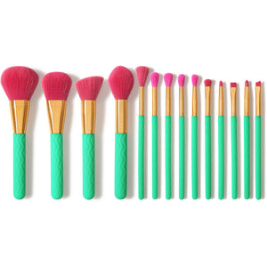 Summer Heat - 14 piece Makeup Brush Set