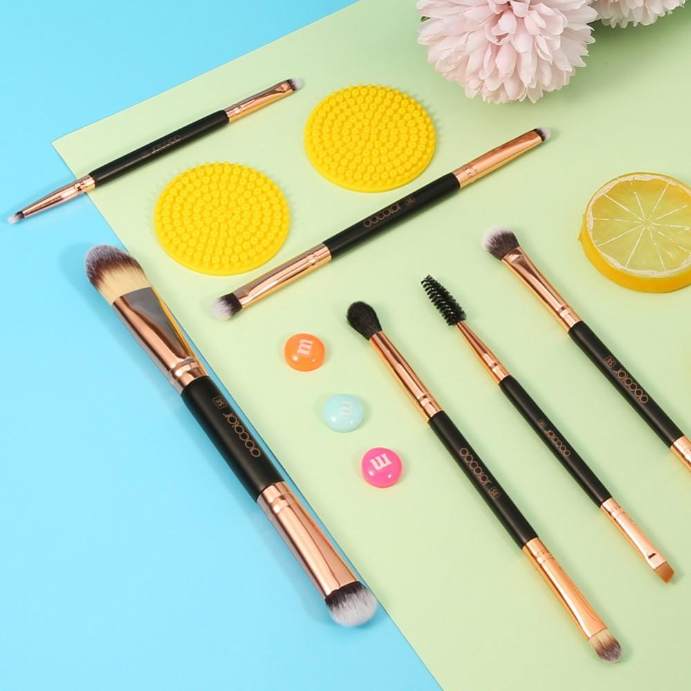6 Pieces Double-Ended Eye Brush Set DOCOLOR OFFICIAL