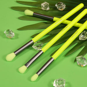 Neon Green 4pcs  Eye Brushes Set