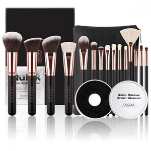 Rose Gold Bundle - 15 piece Brush Set & Brush Cleaner