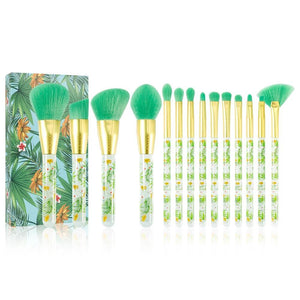 Tropical - 14 piece Makeup Brush Set