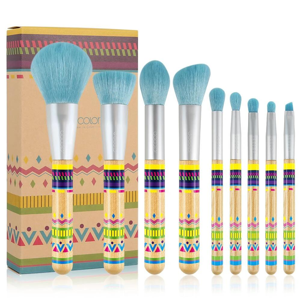 BOHO Bamboo - 9 Pieces Makeup Brush Set