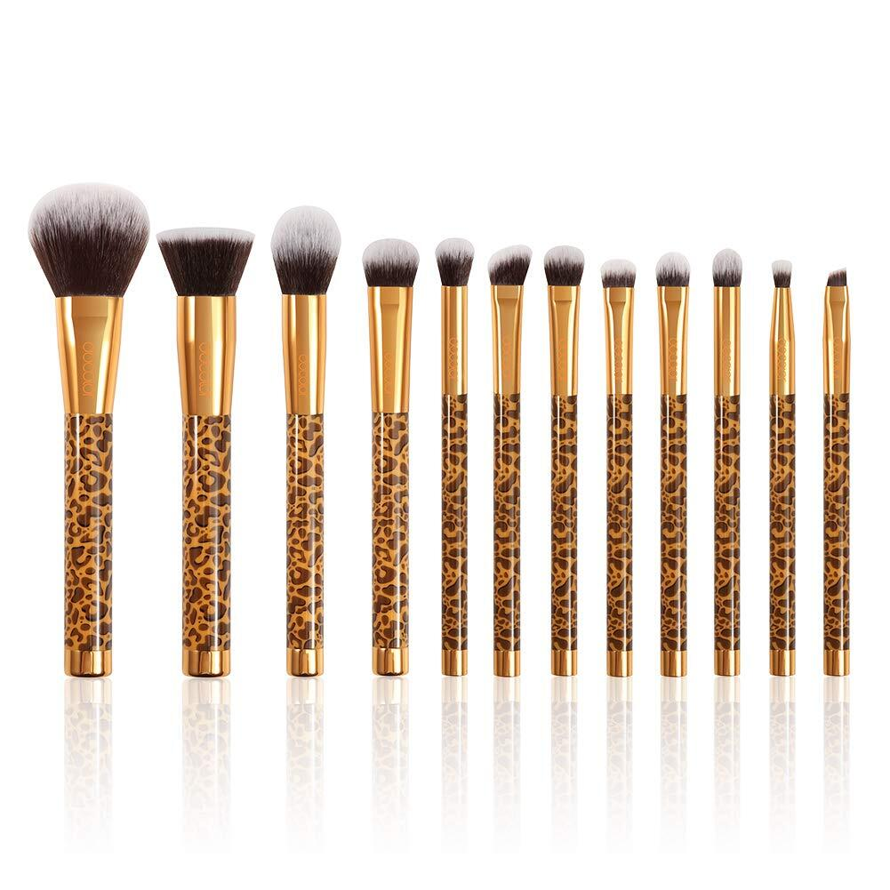 Leopard - 12 Pieces Makeup Brush Set