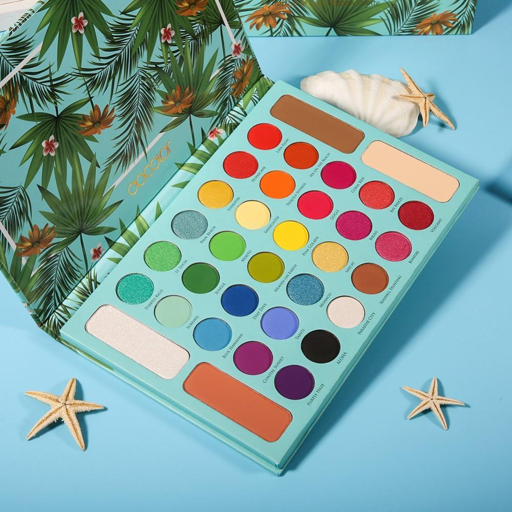 (Preorder) Tropical 34 Color Shadow Palette DOCOLOR OFFICIAL