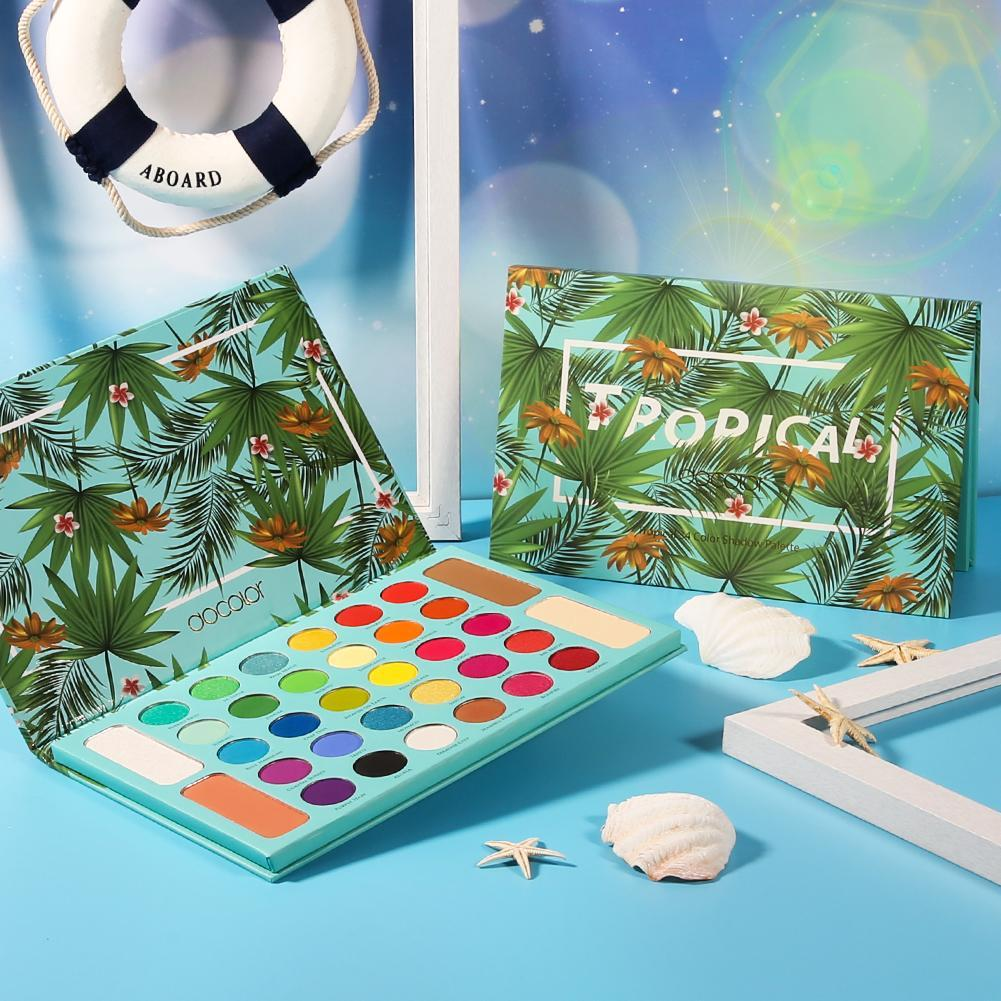 Tropical 34 Color Eye Shadow Palette DOCOLOR OFFICIAL