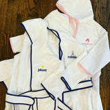 Kids Hooded Bath Robe with Contrast Piping