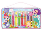 Brilliant Crayon Paint Stick Travel Tote - Magical Mermaids