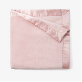 Fleece Baby Blanket, Pale Pink