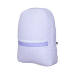 Lilac Seersucker Medium Backpack
