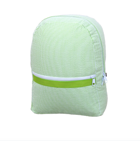 Lime Seersucker Medium Backpack