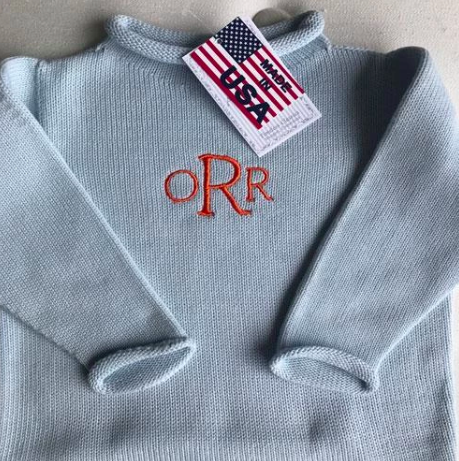 Blue Rollneck Sweater