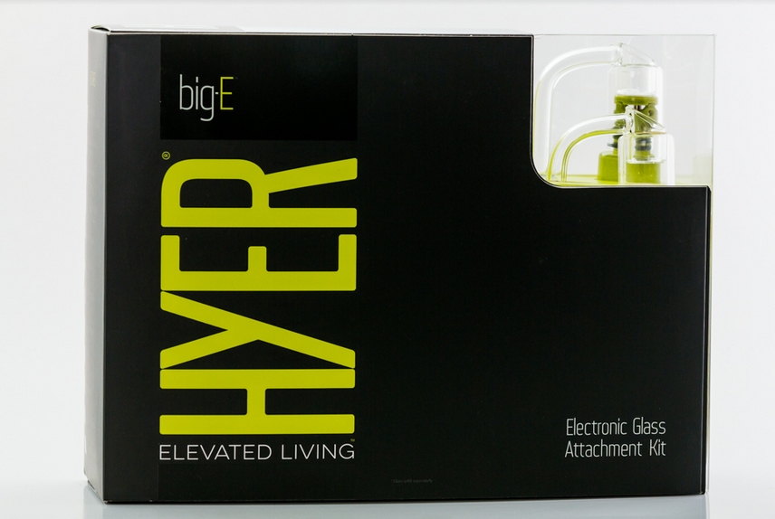HYER - Big Electronic Rig Water Pipe Adapter Kit - Silver/Lime Green