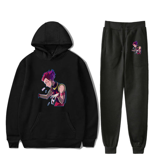 Cross-Border New Full-Time Hunter Anime Hooded Sweater Beam Pants Sports Suit