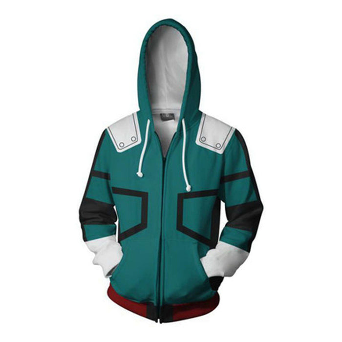 Foreign Trade Explosion Models Cosplay 3D Printing Anime Zipper Hooded Sweater