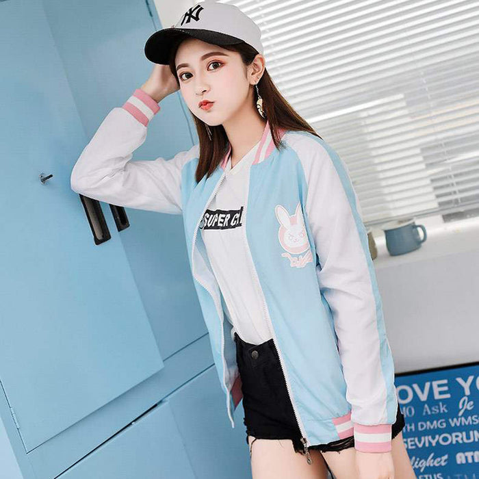 Pioneer Sweater Second Yuan Dva Game Jacket Cosplay Costume Song Hana Baseball Uniform