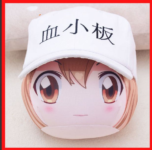 Anime Work Cell Platelet Peripheral Two Yuan Hat Venting Dumplings Pillow