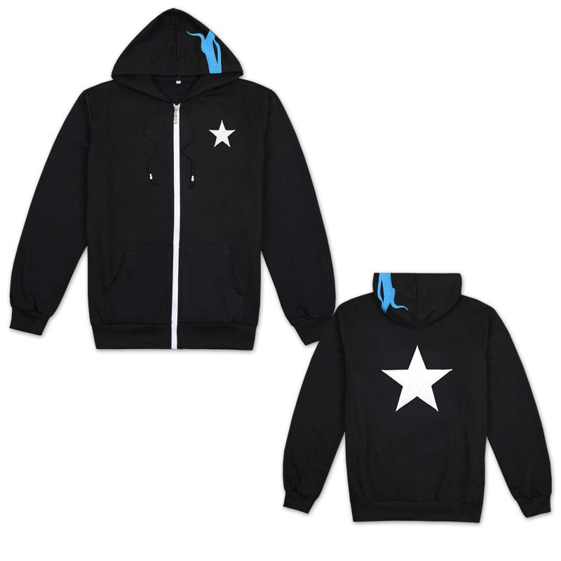 Batch Of Black Rock Shooter Sweater Hoodie Summer Short-Sleeved Star Printing Anime Clothes