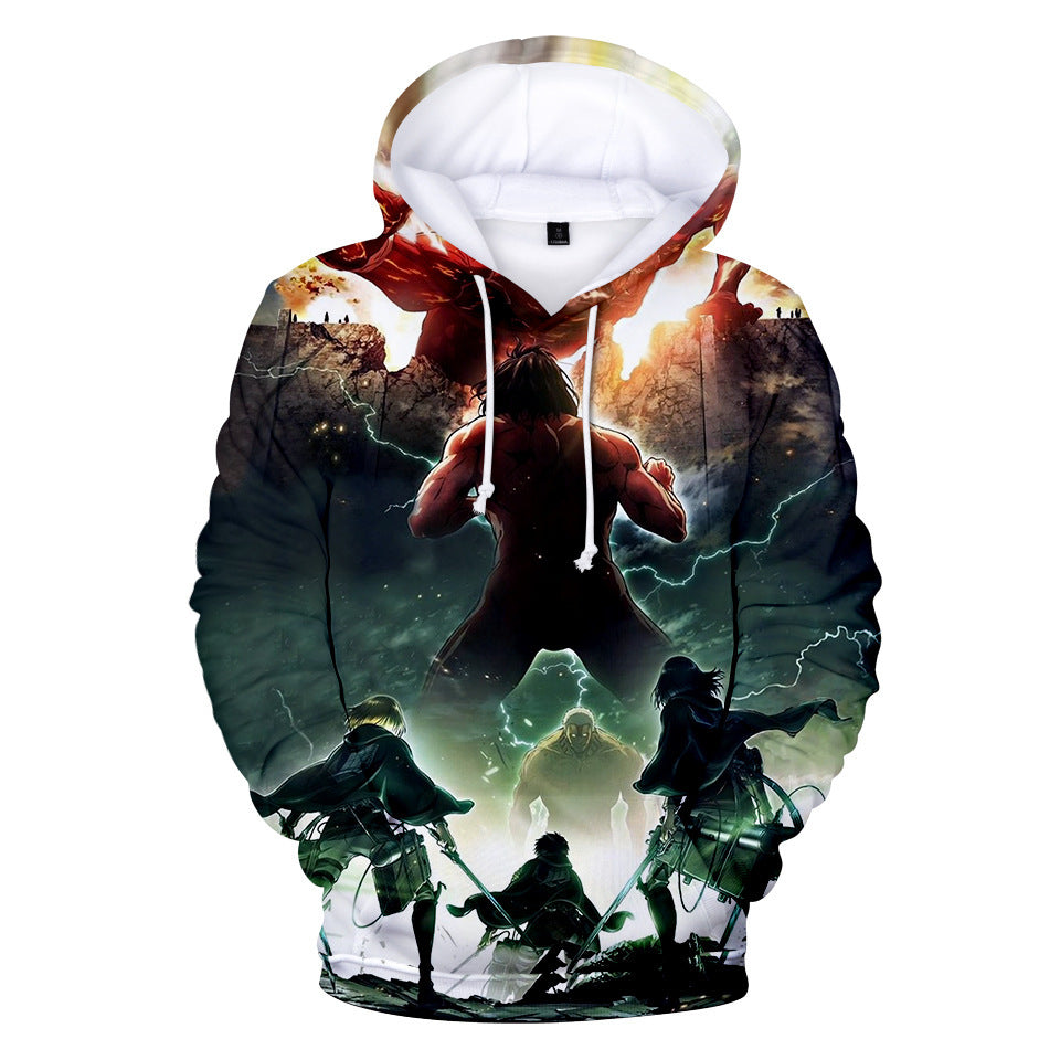 Anime Two Yuan 3D Full Color Hooded Sweater