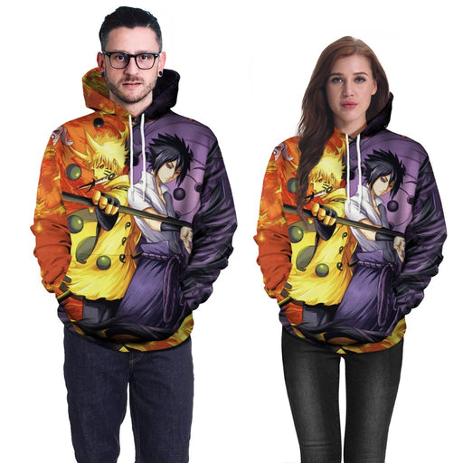 Tide Brand Naruto Anime 3D Printed Hooded Sweater