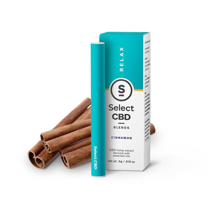 Select | Relax | Cinnamon CBD Vape Pen | 250mg | CLEARANCE