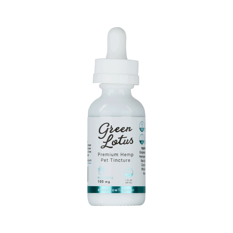 Green Lotus | Full-Spectrum | Premium Organic CBD Pet Tincture | 100mg