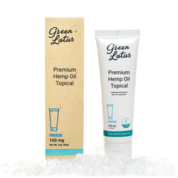 Green Lotus | Freeze | Premium Organic CBD Topical Hemp Oil  | 100mg