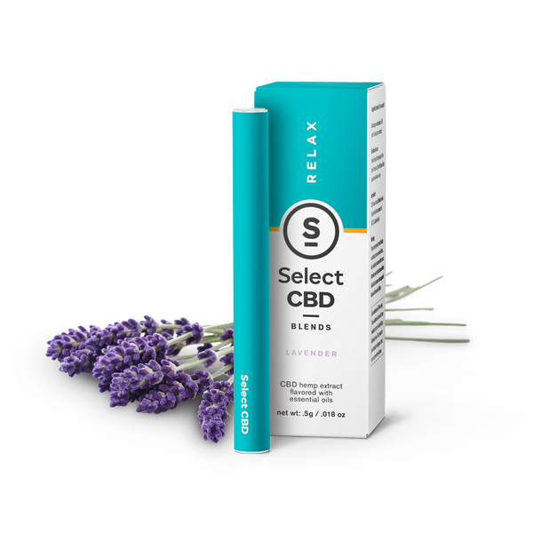 Select | Relax | Lavender CBD Vape Pen | 250mg | CLEARANCE