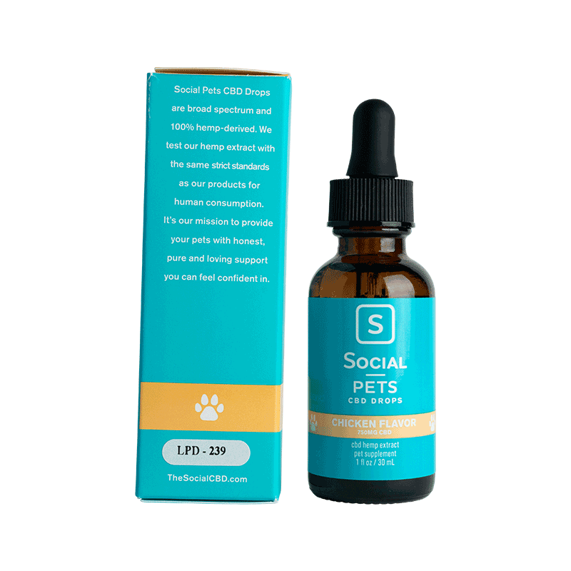 Social | Broad-Spectrum | Chicken CBD Pet Drops | 750mg