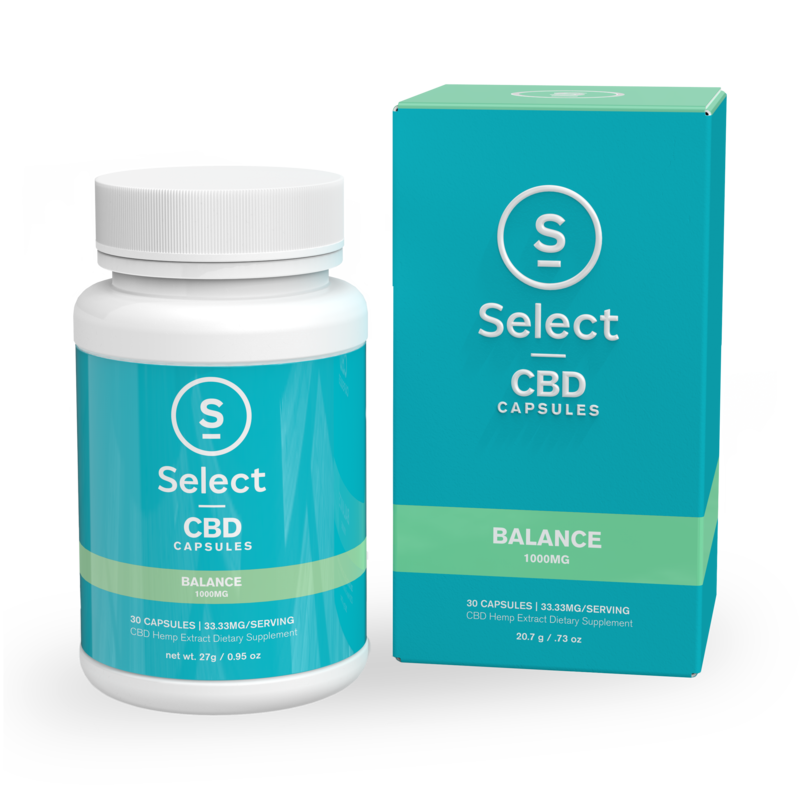 Select | Balance | CBD Gel Capsules | 1000mg | CLEARANCE