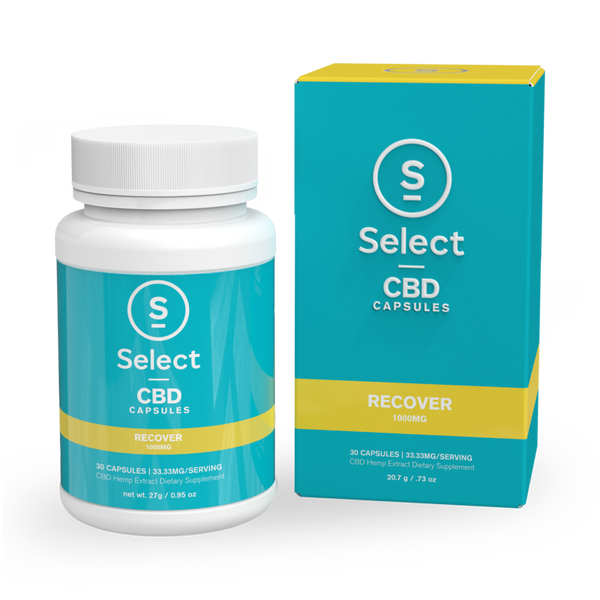 Select | Recover | CBD Gel Capsules | 1000mg | CLEARANCE