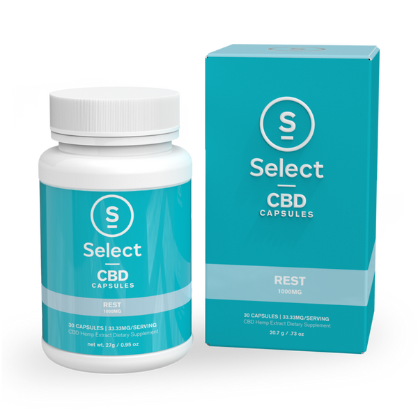 Select | Rest | CBD Gel Capsules | 1000mg | CLEARANCE