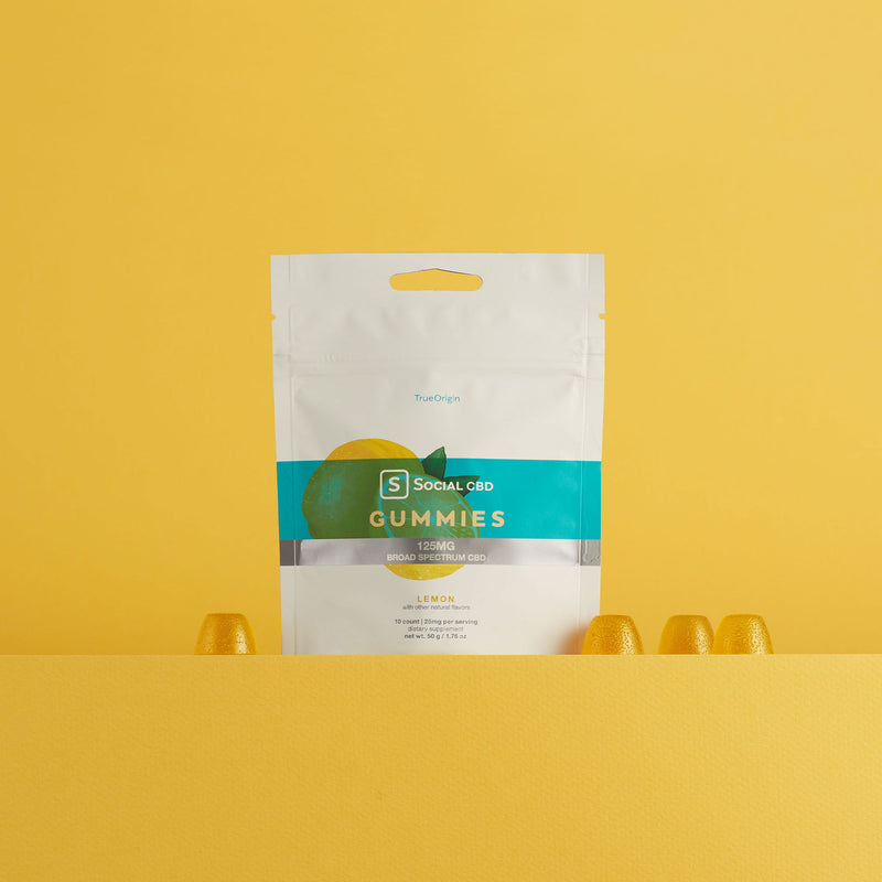 Social | Broad-Spectrum | Lemon CBD Gummies