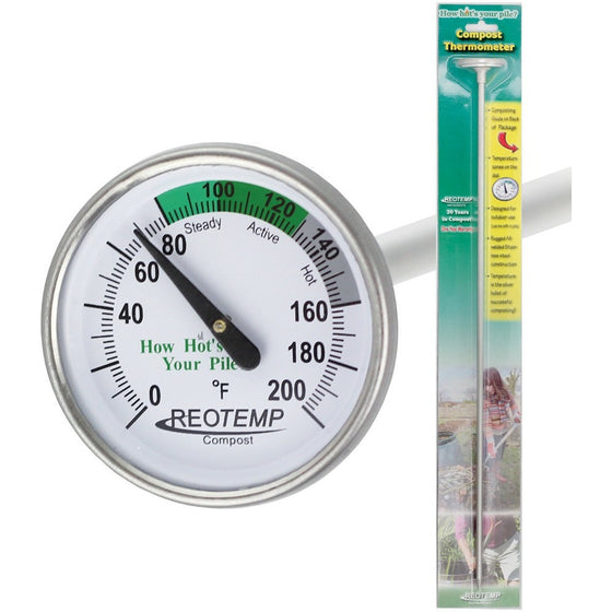 REOTEMP BACKYARD COMPOST THERMOMETER WITH 20″ STEM