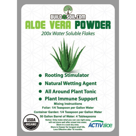 200x Aloe Vera Powder Flakes Certified Organic