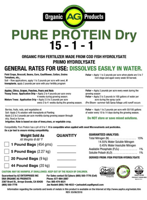 Pure Protein Dry - Organic Fish Aminos