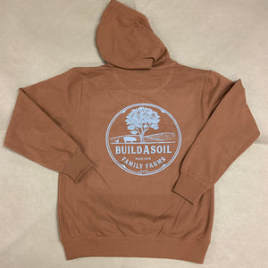 BuildASoil Family Farms Zip-up Hoodie