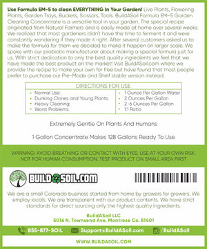Formula EM-5 - All Natural Garden Cleaning Concentrate