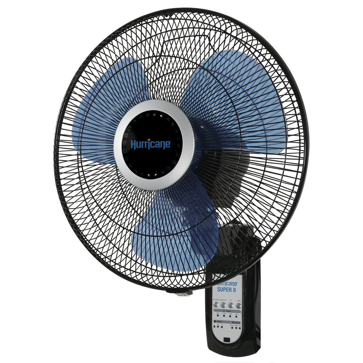 Hurricane Super 8 Oscillating Digital Wall Mount Fan 16""