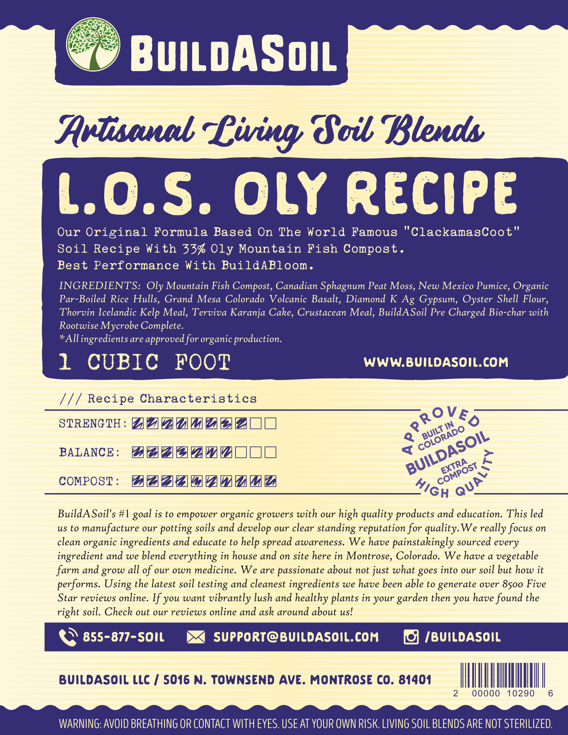 Living Organic Soil - Oly Mountain Compost