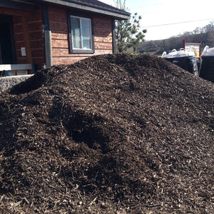 Composted Wood Bark Mulch Pile