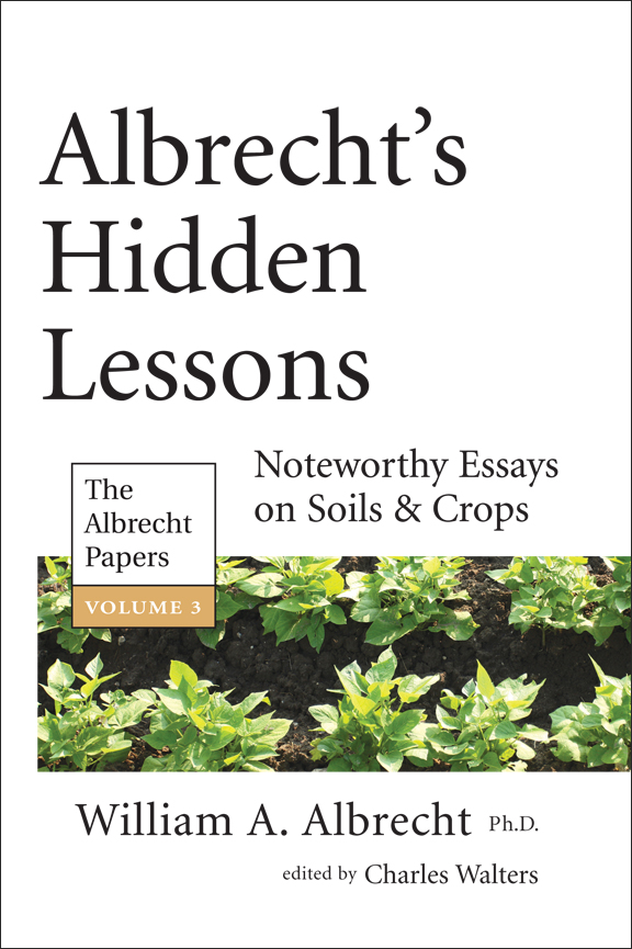 """Albrecht's Hidden Lessons, Vol. 3"""