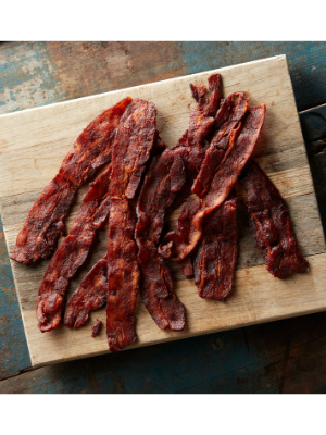 bacon jerky paleo friendly no nitrates nitrites maple slices snack snacks delicious hiking camping pork barrel bbq barbecue bacon gifts ideas him her dad mam birthday gift
